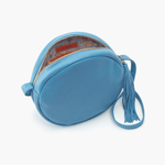 Groove Blue Leather Small Crossbody
