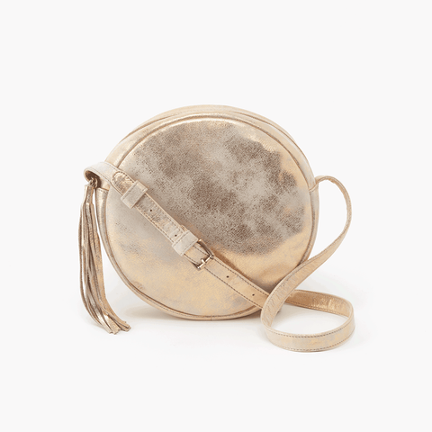 Groove Gold Leather Small Crossbody
