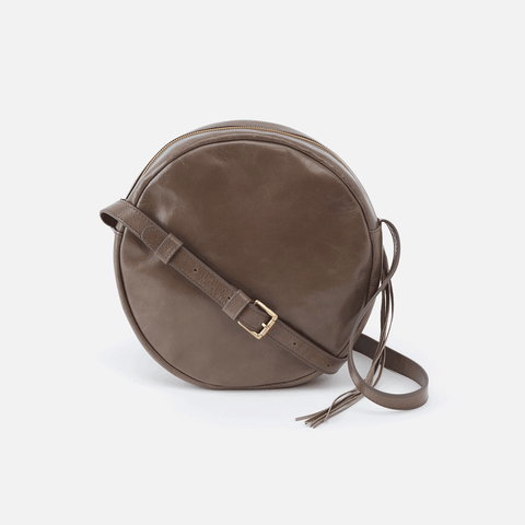 Groove Grey Leather Small Crossbody