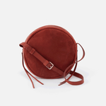 Groove Red Suede Leather Small Crossbody