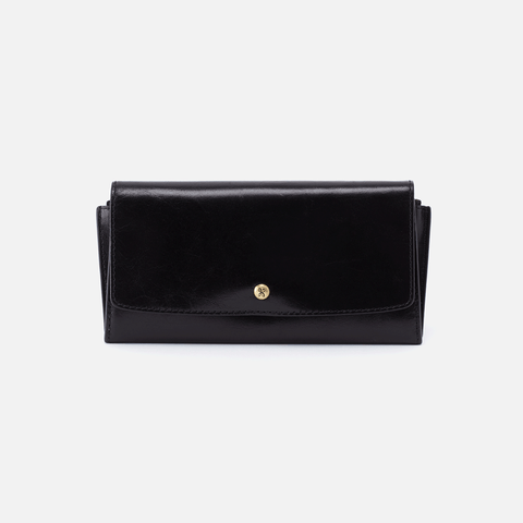 Gust Black Leather Large Wallet