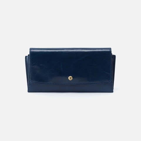 Gust Blue Leather Large Wallet