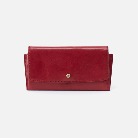 Gust Red Leather Large Wallet
