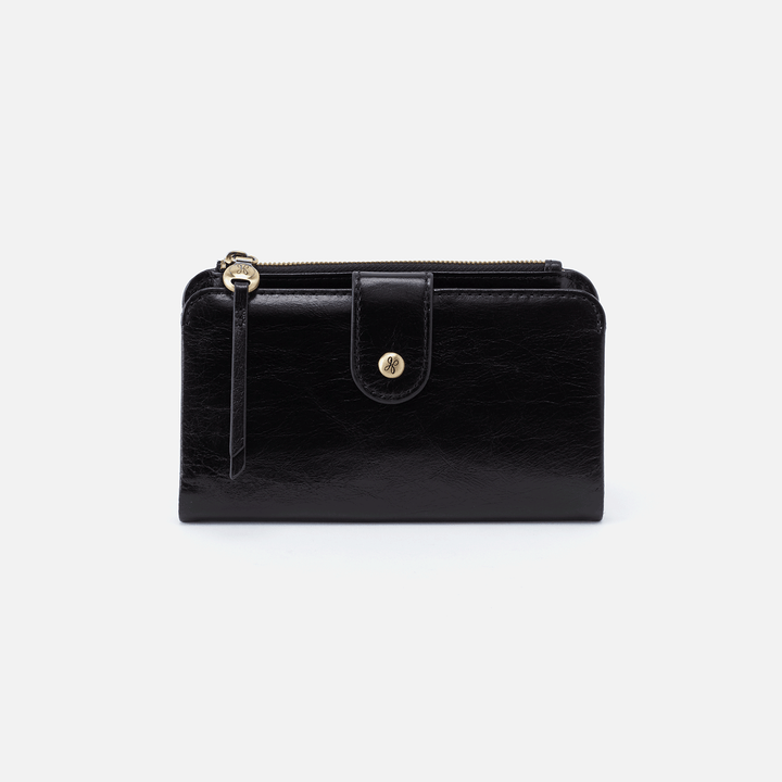 Herald Black Leather Wallet