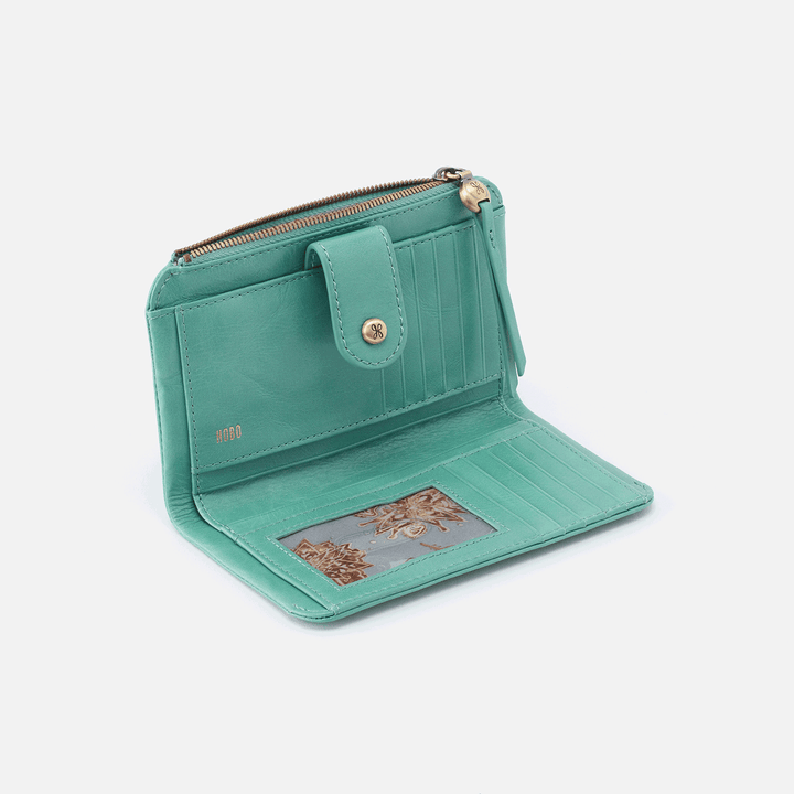 Herald Seafoam Leather Wallet