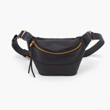 Jett Black Leather Belt Bag