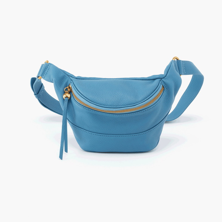 Jett Blue Leather Belt Bag