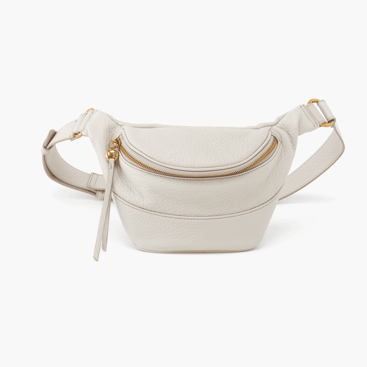 Jett White Leather Belt Bag