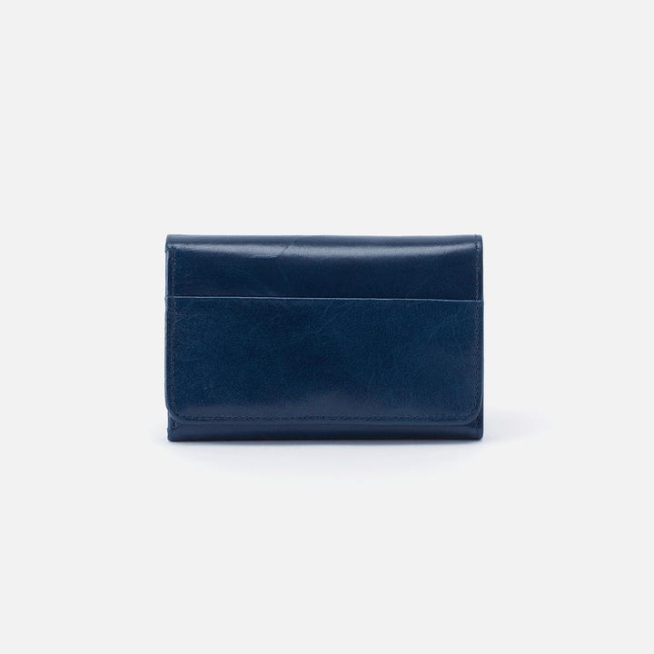 Jill Blue Leather Small Wallet