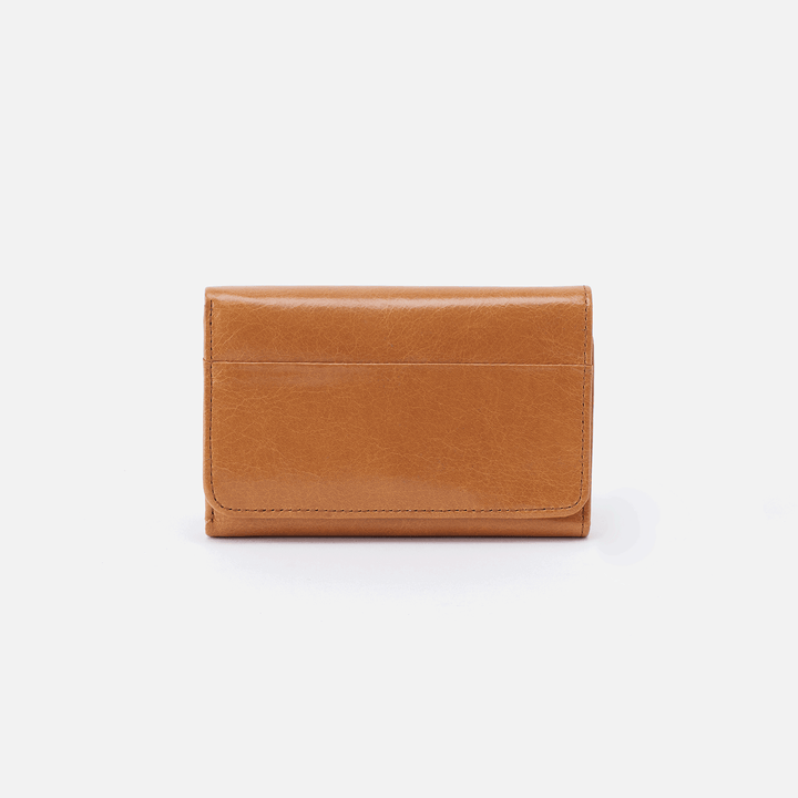 Jill Cognac Brown Leather Small Wallet