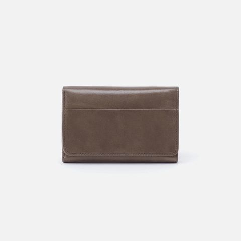 Jill Grey Leather Small Wallet