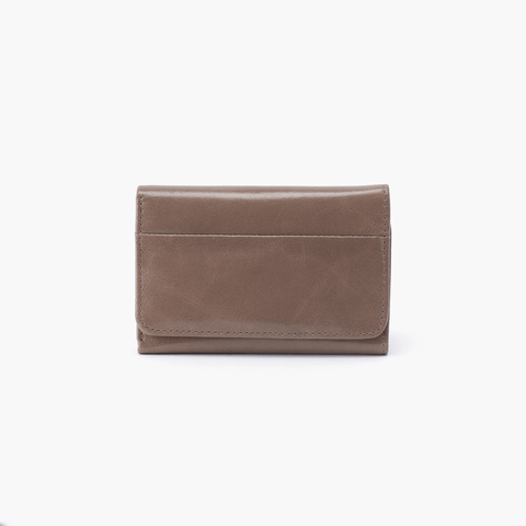 Jill Grey Taupe Leather Small Wallet