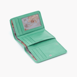 Mint Jill Trifold Wallet  Hobo