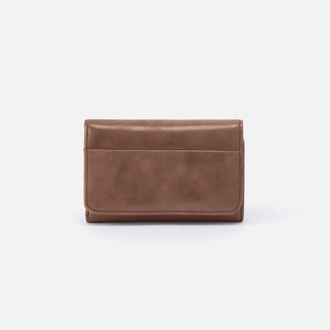 Jill Metallic Brown Leather Small Wallet
