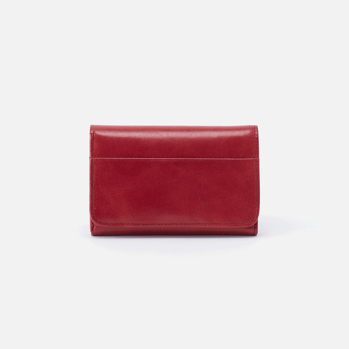 Jill Red Leather Small Wallet