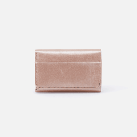 Jill Rose Gold Leather Small Wallet