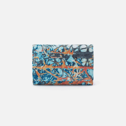 Jill Summertime Abstract Leather Wallet