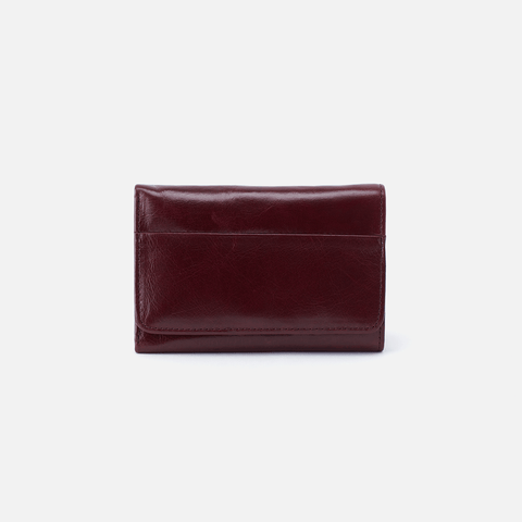 Jill Purple Leather Wallet