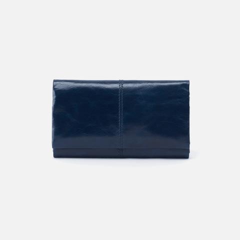 Keen Blue Leather Large Wallet