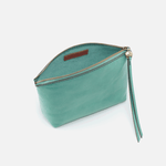 Keep Seafoam Leather Pouch