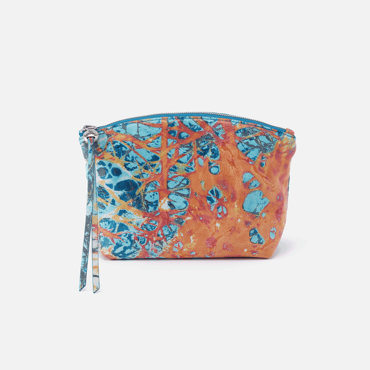 Keep Summertime Abstract Leather Pouch
