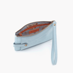 King Blue Leather Wristlet
