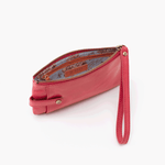 King Pink Leather Wristlet