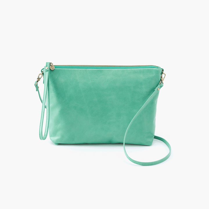 Kori Light Green Leather Small Crossbody