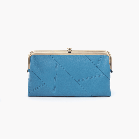 Lauren Blue Leather Clutch Wallet