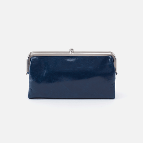 Lauren Blue Leather Clutch-Wallet