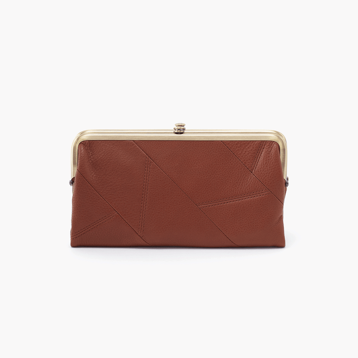 Lauren Brown Leather Clutch Wallet