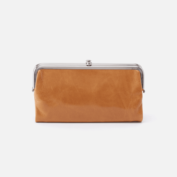 Lauren Cognac Brown Leather Clutch-Wallet