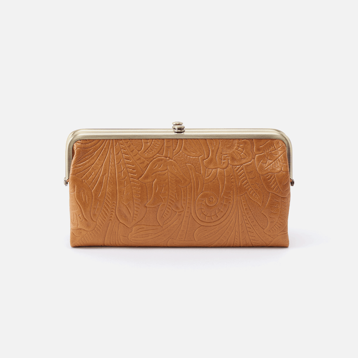 Embossed Honey Lauren Clutch Wallet  Hobo