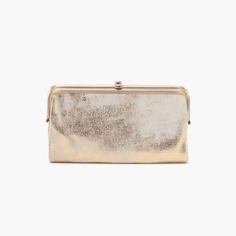 Lauren Gold Leather Clutch Wallet