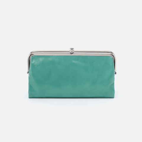 Lauren Seafoam Leather Clutch Wallet