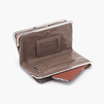 Lauren Grey Taupe Leather Clutch Wallet