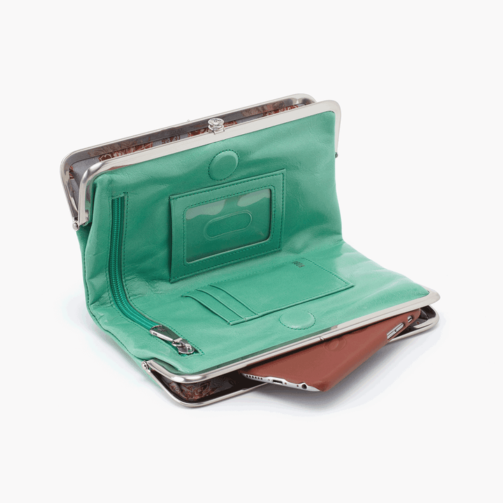 Mint Lauren Clutch Wallet  Hobo