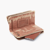 Lauren Print Leather Clutch Wallet