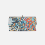 Lauren Summertime Abstract Leather Clutch Wallet