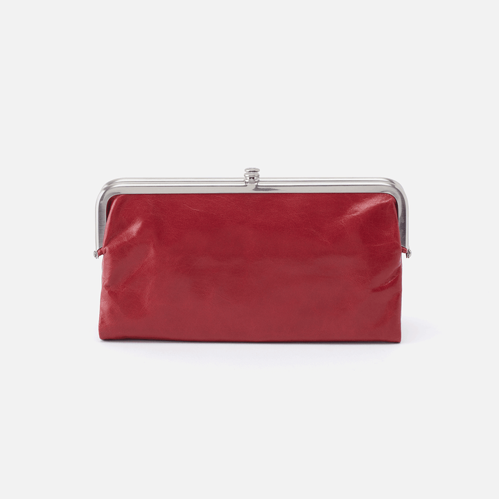 Lauren Red Leather Clutch-Wallet