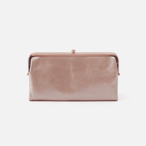 Lauren Rose Gold Leather Clutch-Wallet