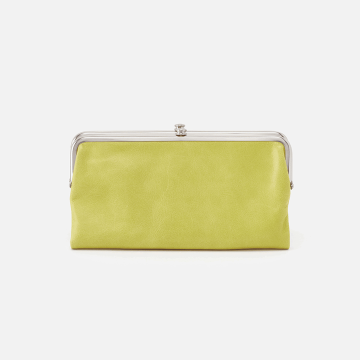 Lauren Lemongrass Leather Clutch Wallet