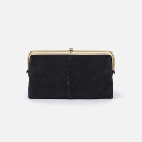 Lauren Black Leather Clutch Wallet