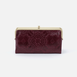 Lauren Embossed Purple Leather Clutch Wallet
