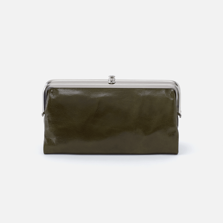 Lauren Green Leather Clutch Wallet