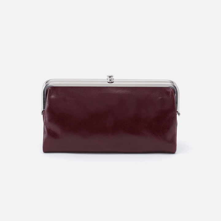 Lauren Purple Leather Clutch Wallet