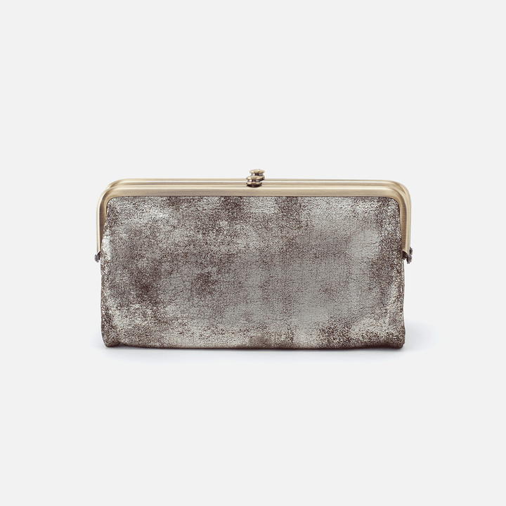 Lauren Silver Leather Clutch Wallet