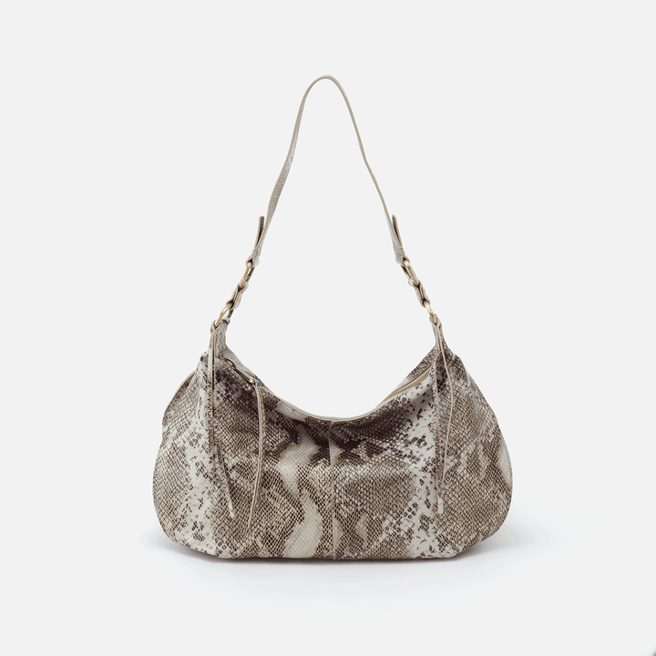 Lennox Print Leather Hobo