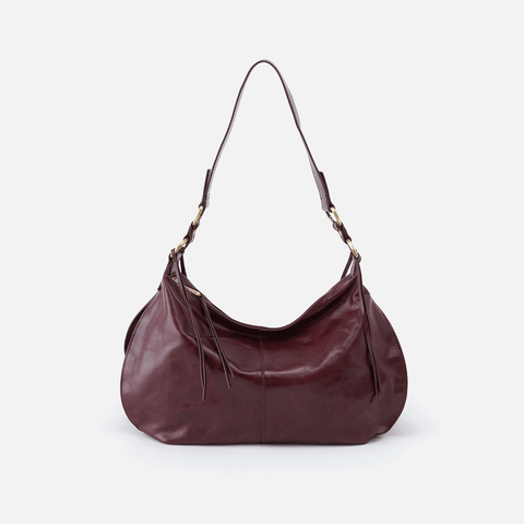 Lennox Purple Leather Hobo