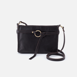 Libra Black Leather Crossbody